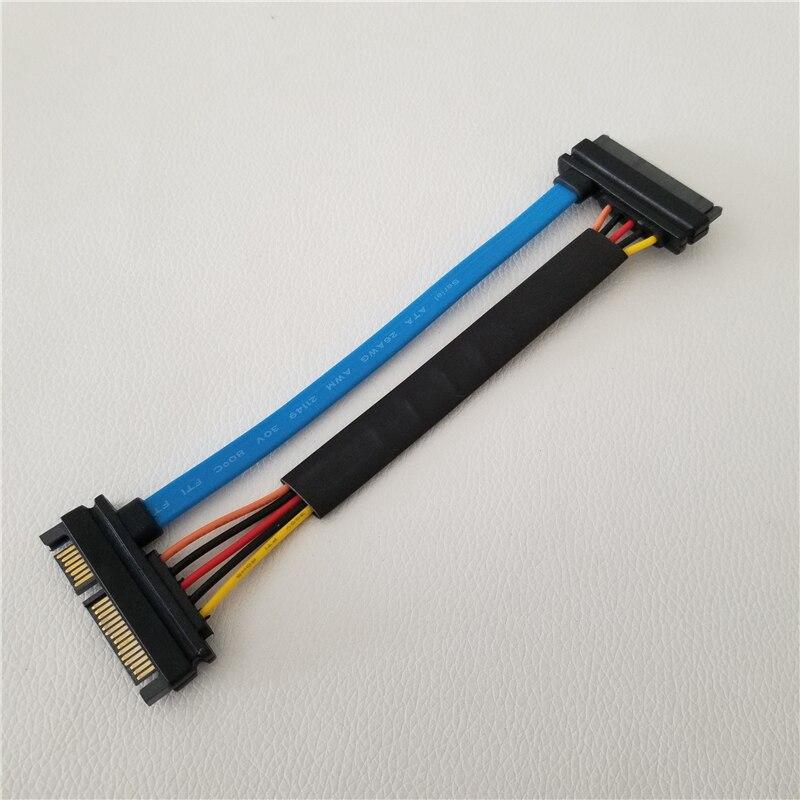 22pin (7 + 15pin) cabo de extensão de dados sata macho para cabo de alimentação fêmea 3.3v cabo de extensão dura dirve