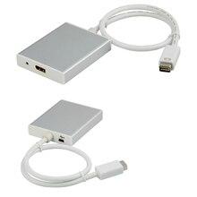 Adaptateur de convertisseur de câble Mini DVI vers Displayport, USB audio + Mini DVI vers displayport ou mini Displayport out
