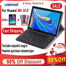 Étui pour clavier pour Huawei Mediapad M6 10.8 2019 tablette mince étui en cuir intelligent pour Huawei M6 10.8 clavier couverture + cadeau Film stylo