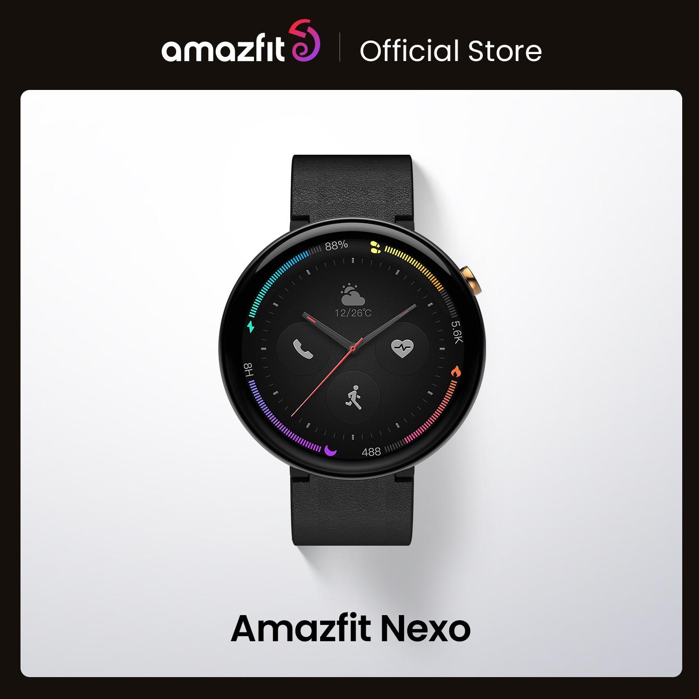 ساعة يد ذكية أصلية من Amazfit Nexo مصنوعة من السيراميك ذات 10 أوضاع رياضية ونظام تحديد المواقع Glonass شاشة AMOLED مقاس 1.39 بوصة لهاتف أندرويد