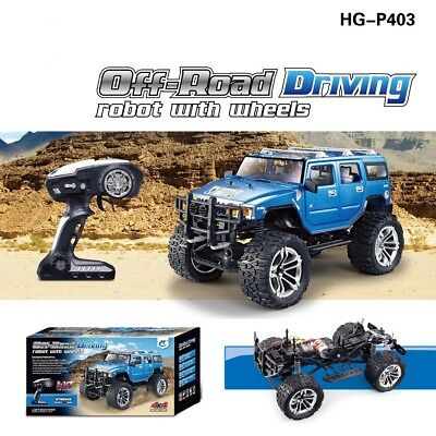 HG 1/10 RC 4WD modelo todoterreno de conducción de carreras de escalada coche 2,4G P403 RTR Motor