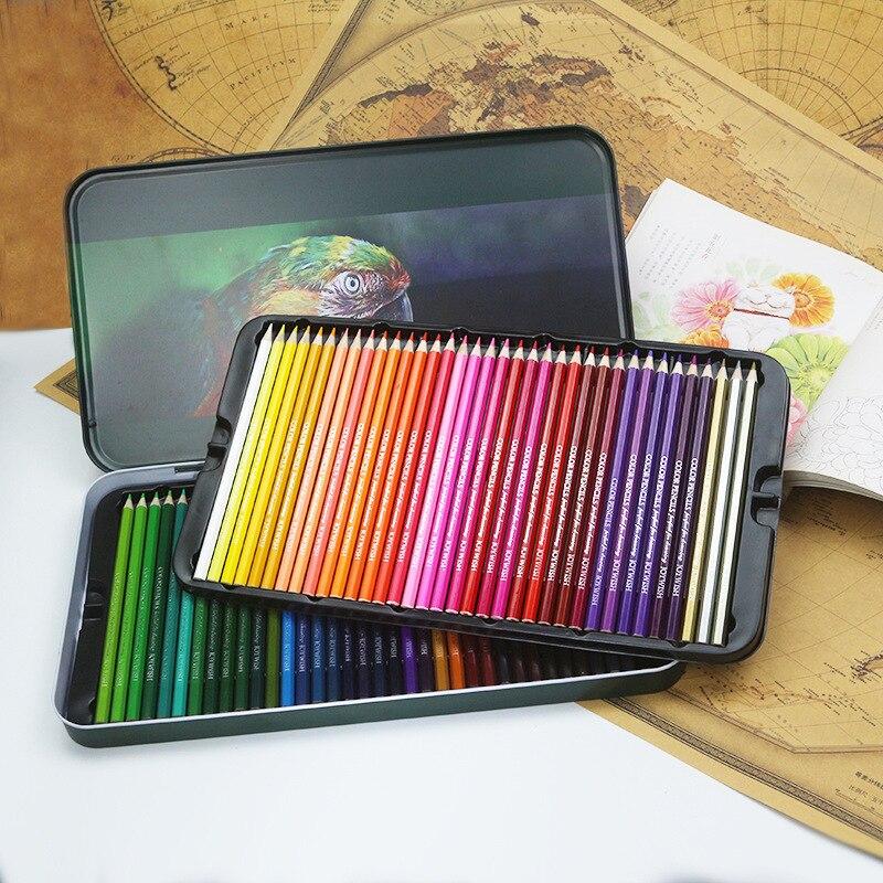 12 24 36 48 72 lápices de colores lapiss artista pintura color aceite lápiz para escuela dibujo materiales para dibujo y Bellas Artes