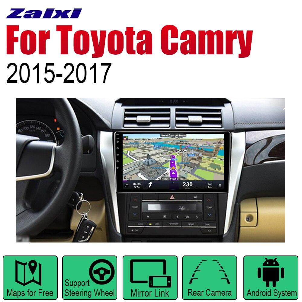 Reproductor automático, navegación GPS para Toyota Camry 2015 2016 2017, sistema Multimedia Android, Radio estéreo con pantalla