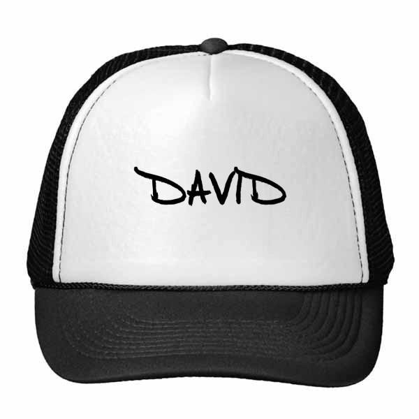 Escritura especial inglés Nombre DAVID gorra de béisbol gorra de malla de Nylon sombrero fresco niños ajustable Cap regalo