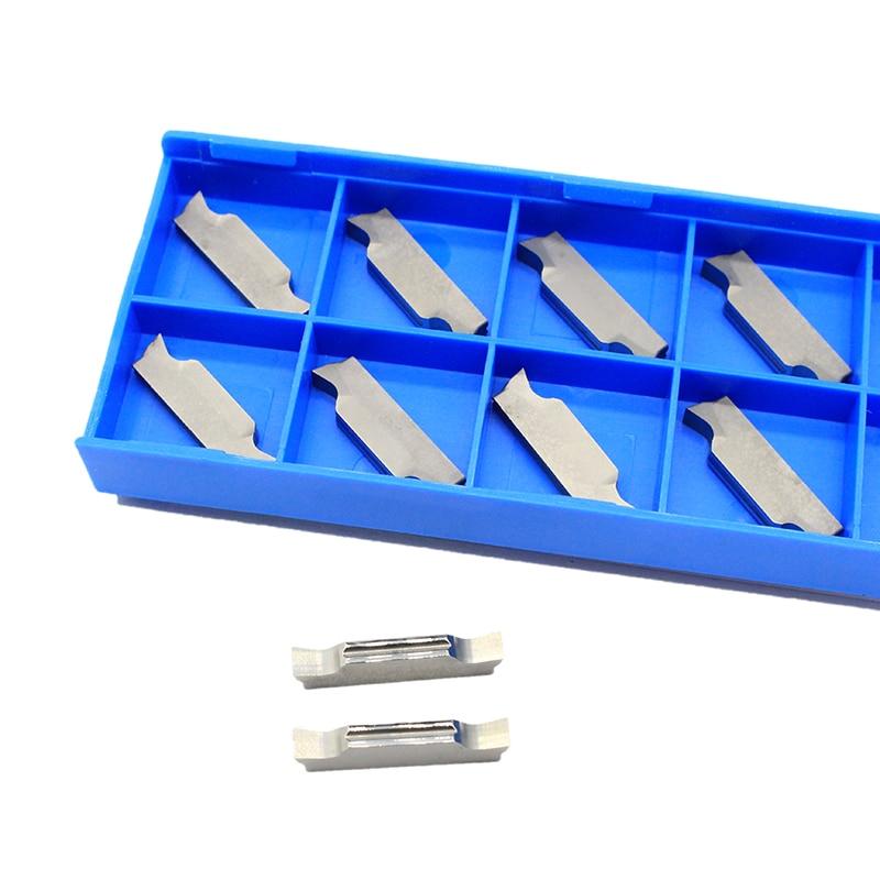 10 pçs mggn300 m h01 carboneto de inserção grooving corte lâmina liga dura para alumínio cnc espuma ferramenta torneamento