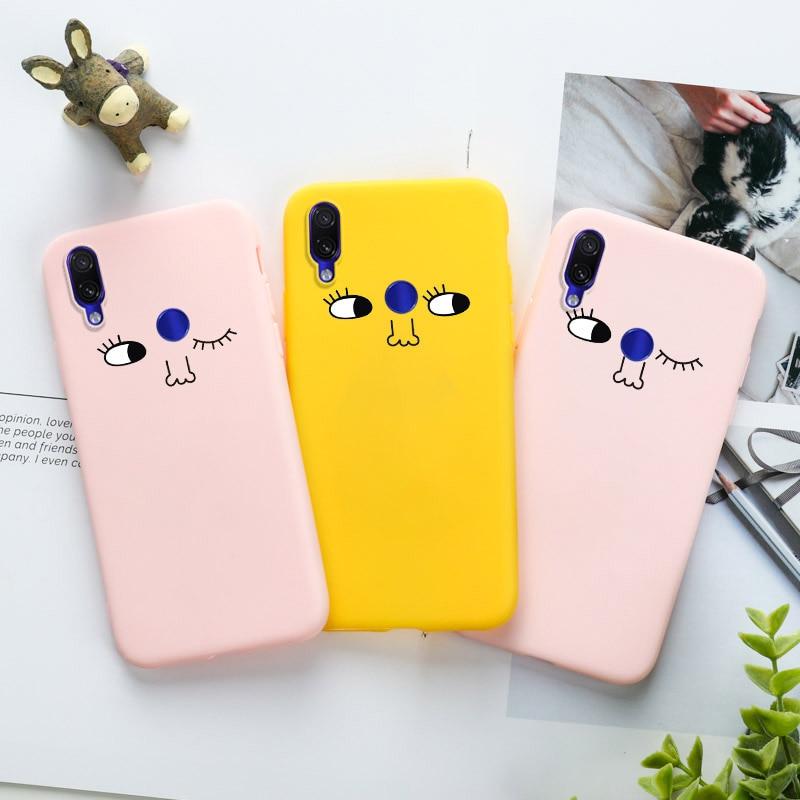 Case for Xiaomi Redmi Note 8T Case 4X 4A 6A 7A 8A 5 Plus 8 6 7 Pro 5A Prime S2 Y2 K20 K30 Go Soft Silicone Candy Winke Eye Cover