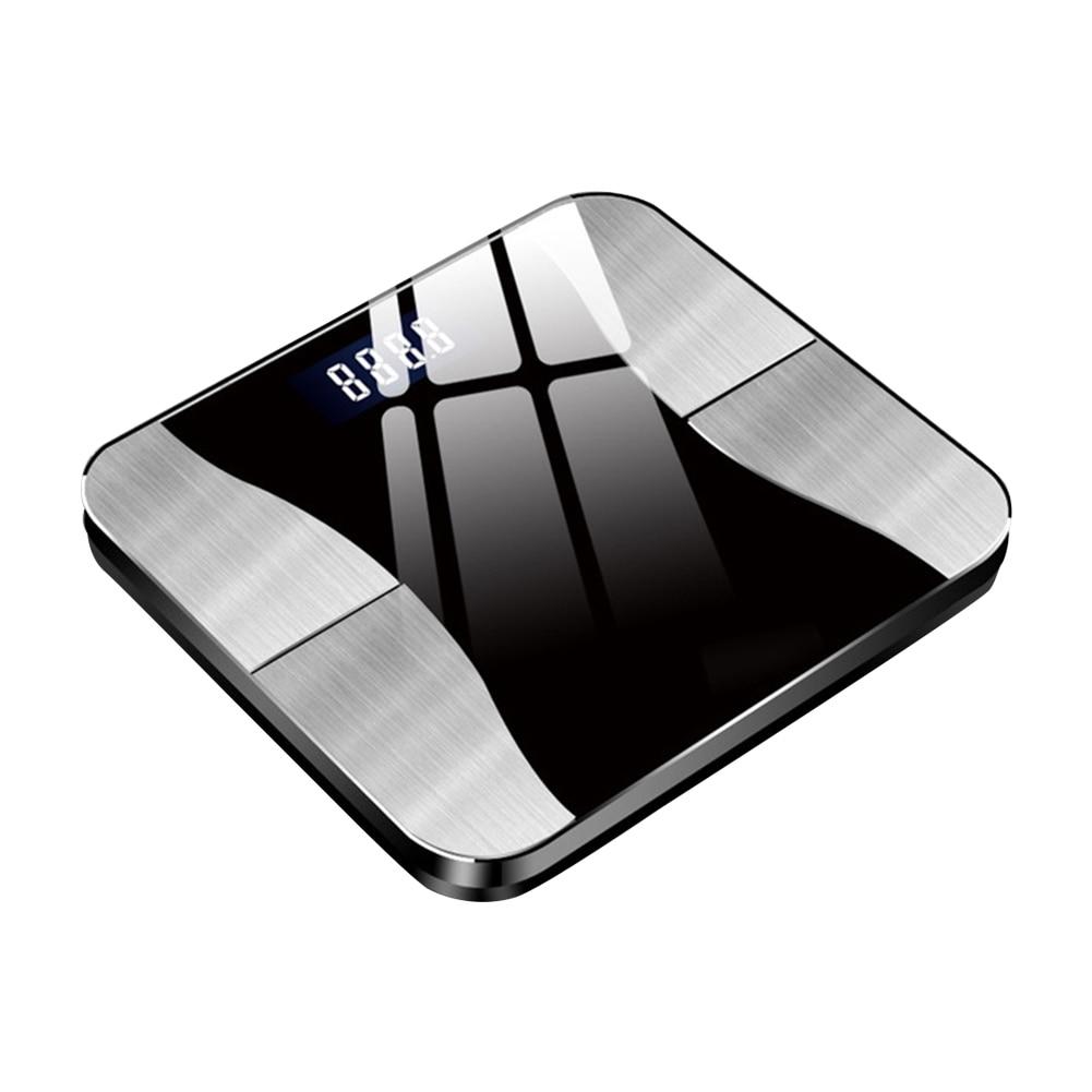Indução da Gravidade da Escala da Gordura Recarregável do Peso do Banheiro de Bluetooth Inteligente com o Automóvel do Aplicativo em Fora Usb da Massa Corporal Óssea Digital 180kg