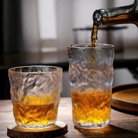 nordic heat resistant glass cup frosted coffee cup cocktail wine whiskey glass mug transparent milk beer cup drinkware