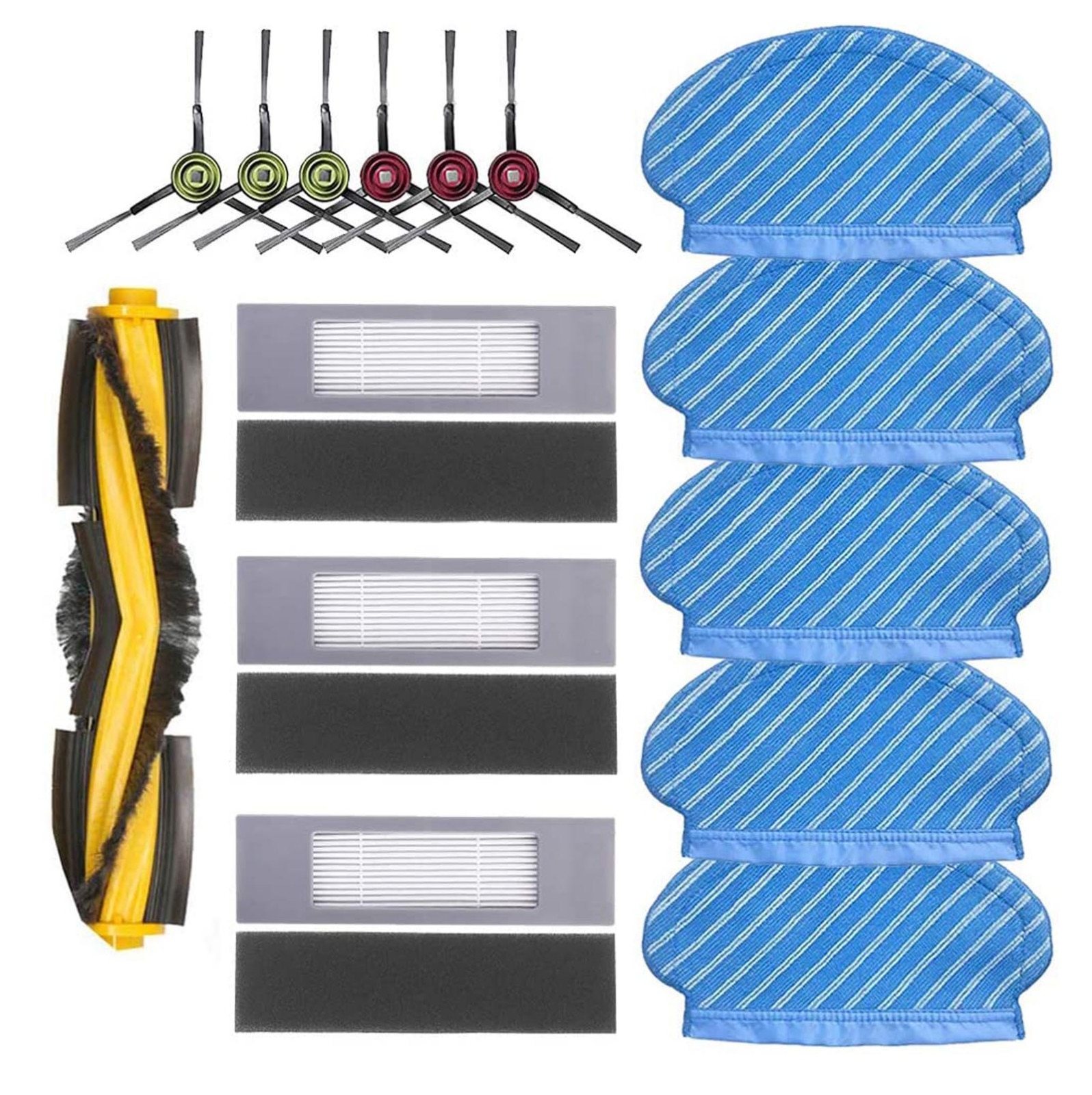 Filter Side Brush Mop Cloth Set For Deebot Ozmo 920 950 Vacuum Cleaner Parts Replacement Home Accessories