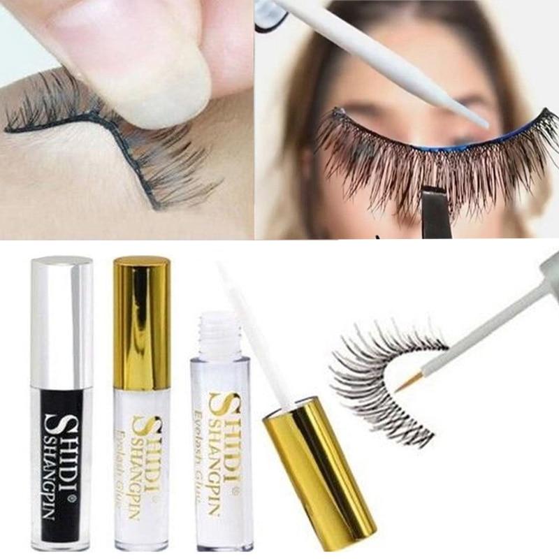 5ML false eyelash glue adhesive false eyelash glue transparent white dark black waterproof eyelash cosmetic tool недорого
