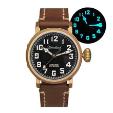 Cronos Hruodland Men's Bronze Pilot Watch BGW-9 Blue Luminous Sapphire 300M Water Resistance ST2130
