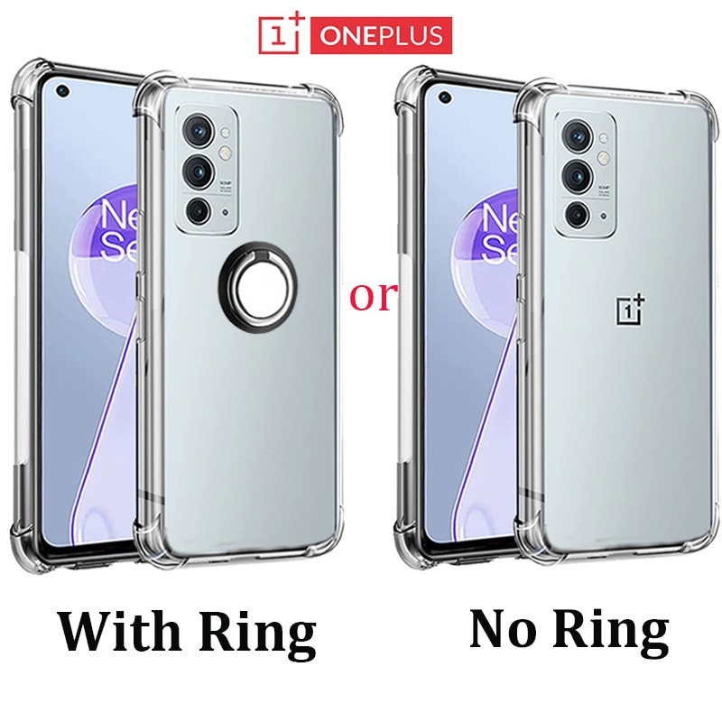 oneplus 9rt,Metal Stand Ring Cover For oneplus 8t Case Silicone Transparent Bumper oneplus 9r 8 9 Pr