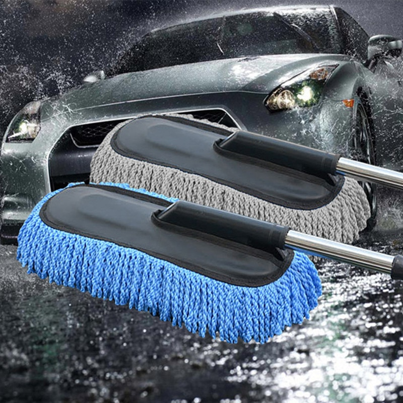 Обновите автомобильные выдвижной воск буксировочный микрофибра пыли Чистящая Щетка для машины номер двойного назначения пыли щетка и сово...