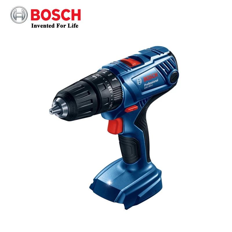 Bosch 18V аккумуляторная ударная дрель GSB180 LI электрическая отвертка, Малый бытовый электрический сверла по металлу с изображением деревянной стены (без аккумулятора)