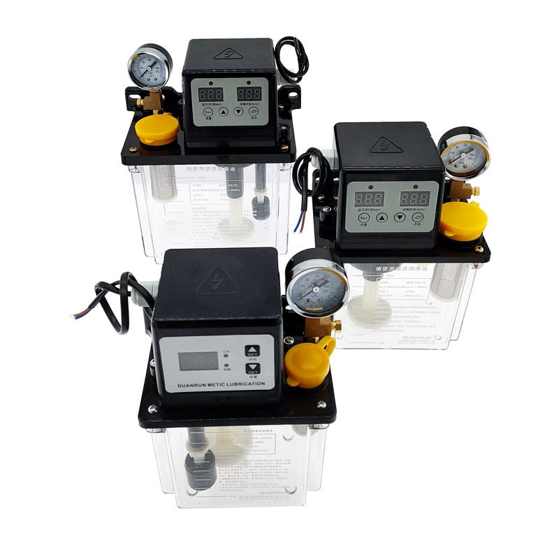 1pcs 0.5L 1L 2L Lubricant Pump Automatic Lubricating Oil Pump CNC Electromagnetic Lubrication Pump Lubricator