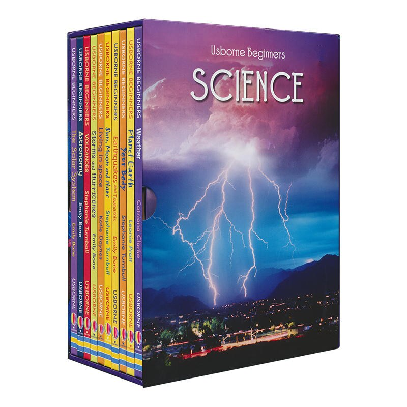 10 Books/Set Beginners Science Children Interesting Science Books Kids English Reading Story Book Educational Toys for Children