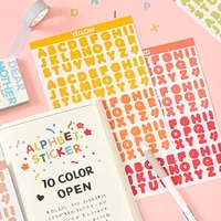 korea candy color digital letter stickers alphabet scrapbooking decoration photo album decor planner decals stationery sticker