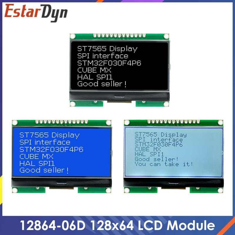 Lcd12864 12864-06D, 12864, LCD module, COG, with Chinese font, dot matrix screen, SPI interface