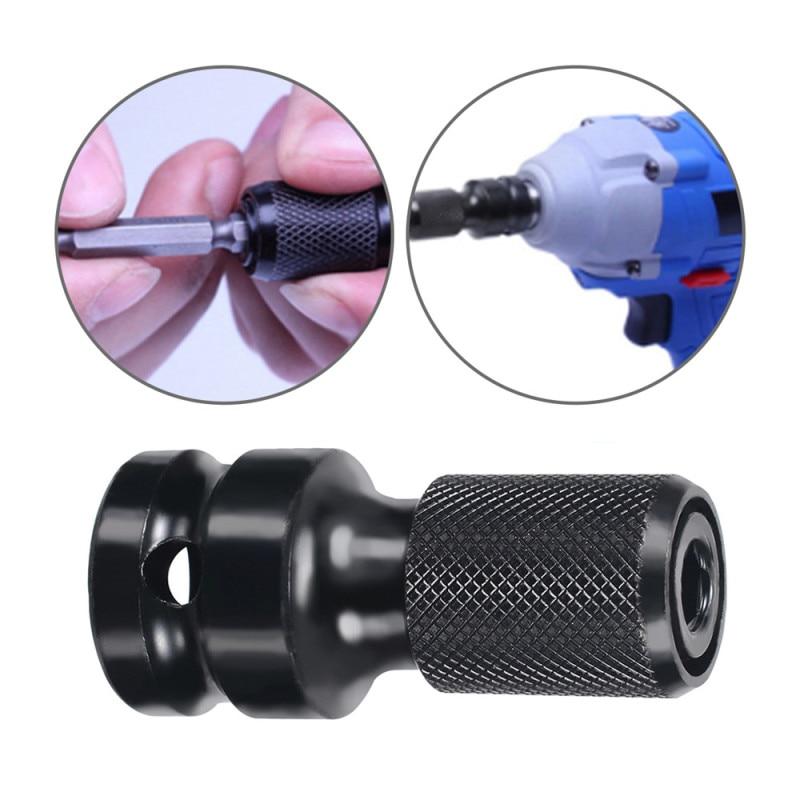 1/2 tolli ruudukujuline kuni 1/4 tolline kuuskantvõtmega mutrivõtme pistikupesa adapter, ajami muunduri löögiriista pikkus 50mm