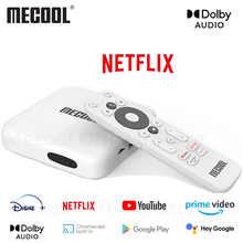 ТВ-приставка MECOOL KM2 KM3 KM9 PRO Android 10 DDR4 11 Youtube Amlogic S905X2 WiFi 4K Премиум Голосовое управление Netflixs ТВ-приставка