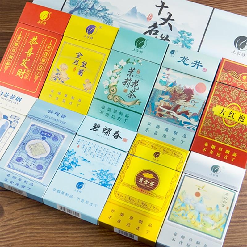 AliExpress - Healthy No Tobacco Tea Tobacco Tea Nature Herbal Tea Smoke Ten Flavor Chinese Cigarette to Quit Smoking Clear Lung  No Nicotine