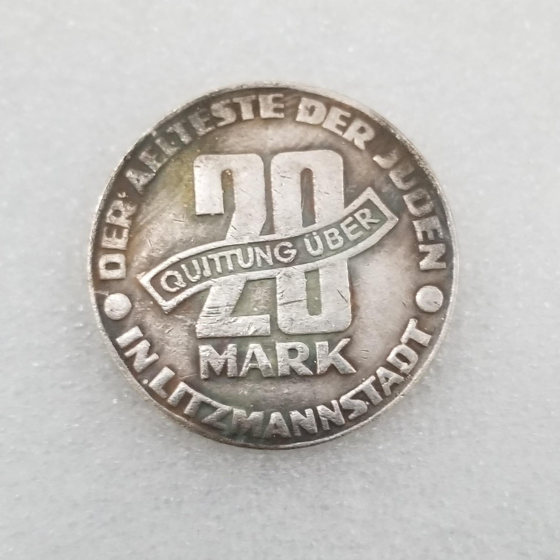 1943 20 marcas de monedas de Polonia monedas antiguas moneda conmemorativa de regalo envío gratis