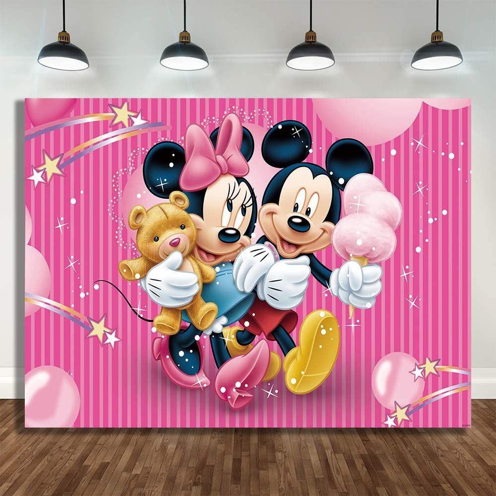 summer beach flower birthday party photography backdrops baby shower birthday backgrounds for photo studio blue sky white clouds Disney Mickey Minnie Mouse Photography Backgrounds Cloth Photo Shootings Backdrops For Kids Birthday Party Baby Shower Backdrops