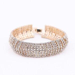 Trendy Rhinestone Girls Bangle Charming Lady Bracelets Eye-Catching Women Chain Bracelets Elegant Female Party Ornaments