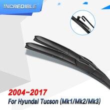 INCREDIBLE Windscreen Hybrid Wiper Blades for Hyundai Tucson Mk1 Mk2 Mk3 Model Year from 2004 to 2018