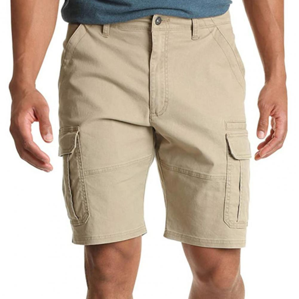 hot new men multi pockets casual pants loose knee length overall camo cargo pants plus size 4 colors men s summer pants Multi Pockets Cargo Shorts Men Casual Shorts Summer Loose Shorts Joggers Men Knee Length Pants Shorts Mens Shorts short homme