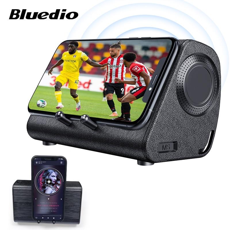 Bluedio MS mobile soundbar portable speaker wireless induction speaker with sensor phone stand holder loudspeaker