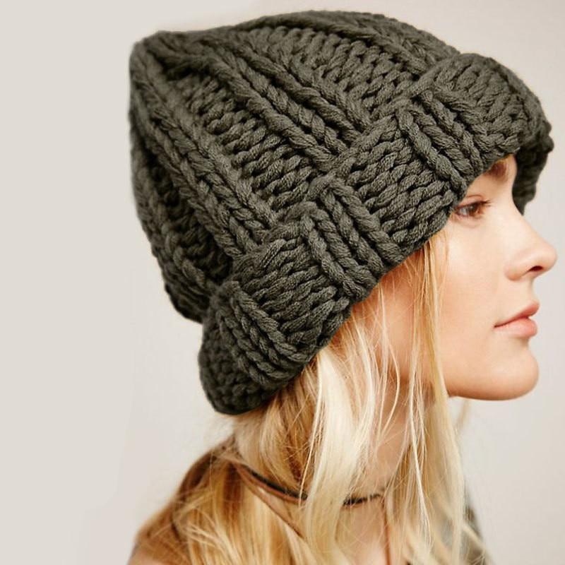 Зимняя шапка, женская теплая шапка, вязаная шапка бини, женские шапки для девушек, женские толстые тянущиеся шапки, модные шапки 2021