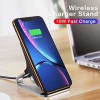 Универсальное беспроводное зарядное устройство Qi для iPhone 11 Pro Max для Samsung S20, автомобильный держатель для телефона с ультраинтеллектуальной ...