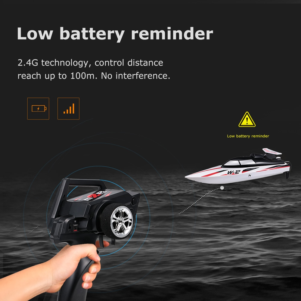 Original WLtoys WL912-A RC Boat 2.4G Radio-Controlled 35KM/H High Speed 390 Motor Remote Control Toy RC Racing Boat for Kids enlarge