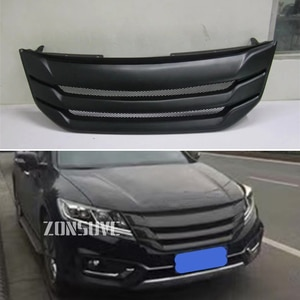 Use For Honda Crosstour 2014 2015 Year Carbon Fibre Refitt Front Center Racing Grille Cover Accessorie Body Kit Zonsuve