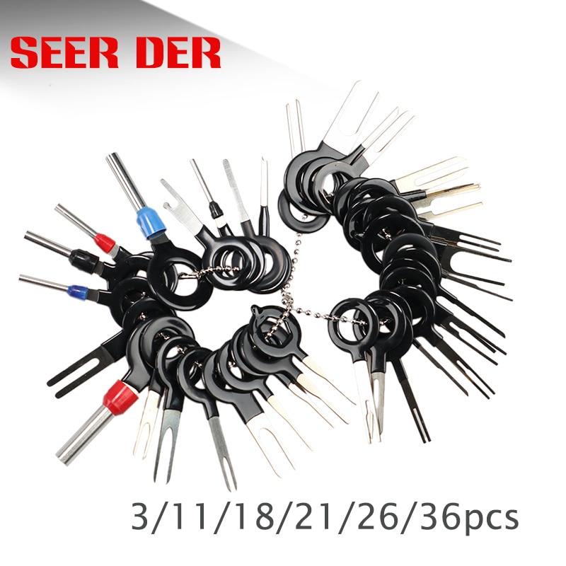 3/11/18/21/26/36 Uds coche Terminal de eliminación eléctrica pinza de presión para cables...