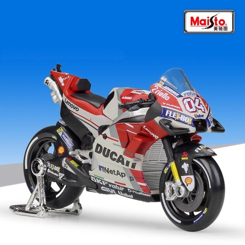 Maisto 118 DUCATI Desmosedici GP18 #04 Andrea Dovizioso de fundición de la motocicleta