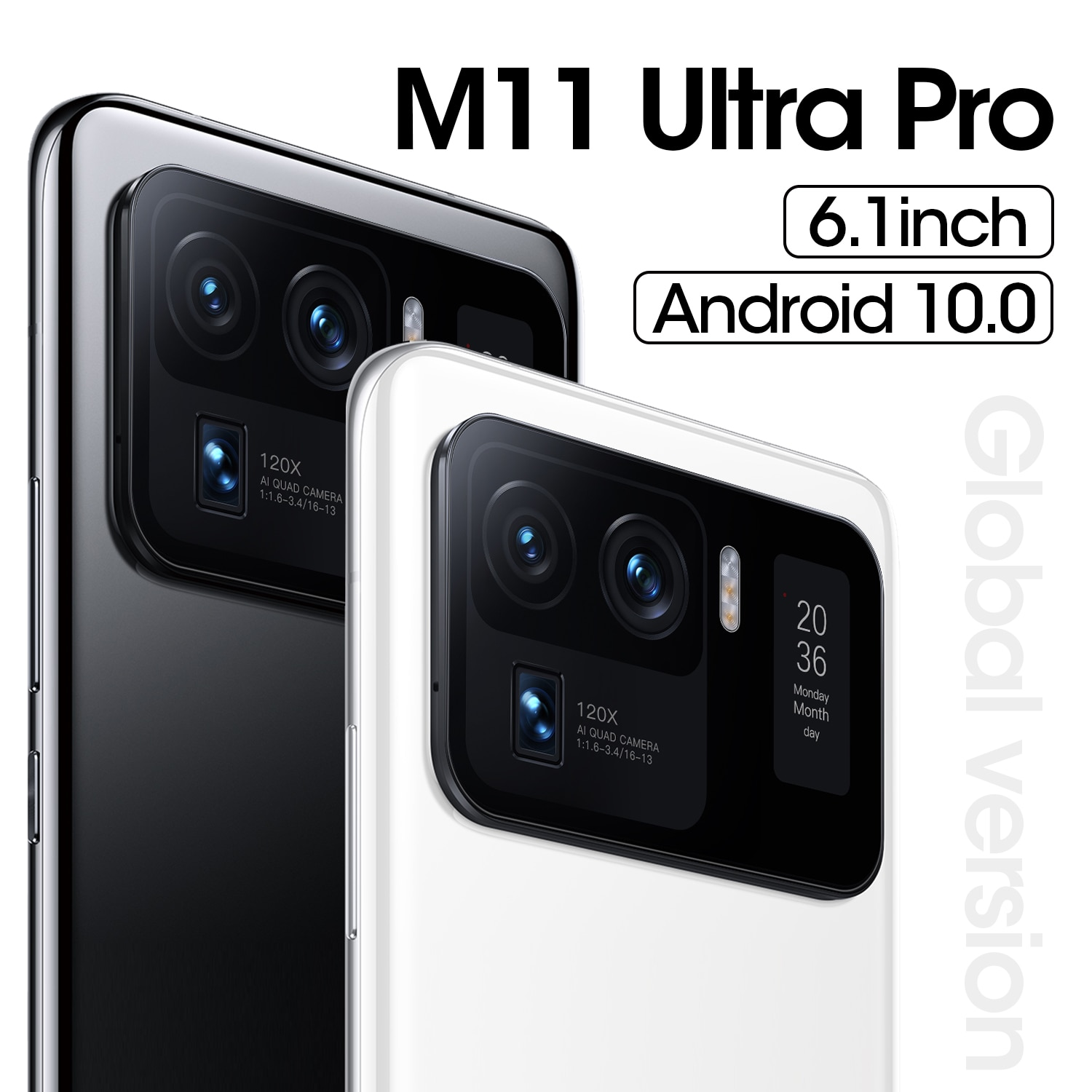 """Hot Sell 6.1"""" Mi 11 Ultra Pro New Unlock Cellphone MT6889 5G 4800mAh 16MP+32MP 12+512GB Android Global Version Smartphones enlarge"""