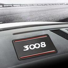 Auto Antislip Mat Auto Siliconen Interieur Dashboard Telefoon Anti-Slip Opslag Mat Pad Fit Voor Peugeot 3008 2008