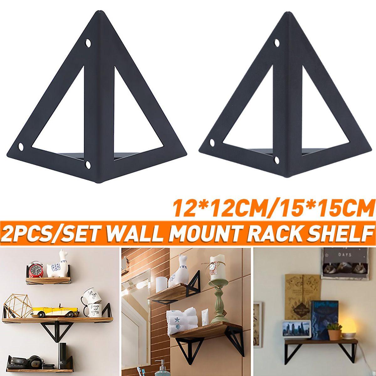 2 قطعة ريترو الأسود مثلث الحائط الجرف دعم الحديد العائمة الخشب مجلس دعم رف قوس شماعات مع المسمار ثابت