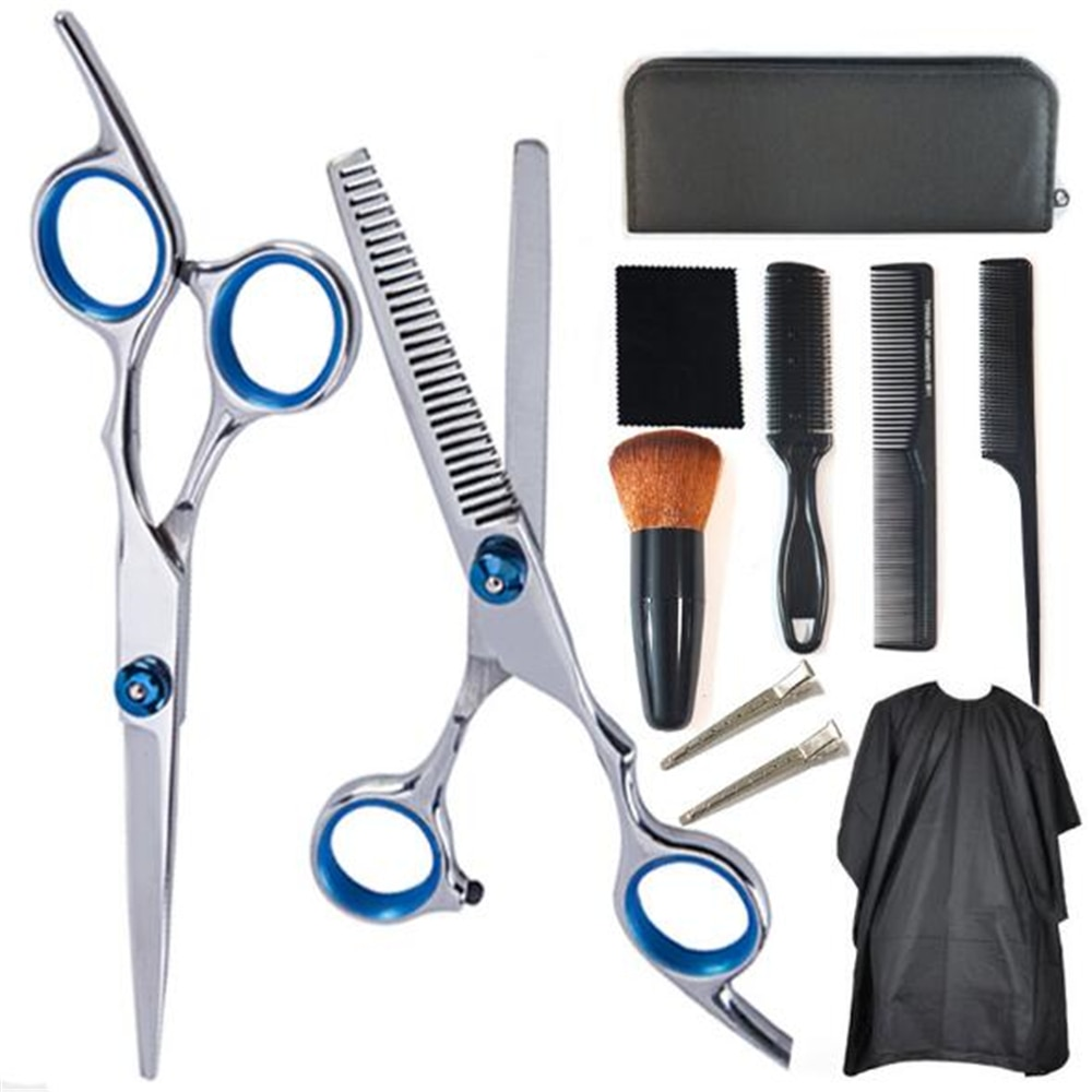 Professional Hairdressing Scissors Kit Hair Cutting Scissor Set Hair Scissors Barber Scissors Hairdresser Tool Salon Accessories professional hairdresser bags 2pcs or 4pcs scissors storage bags hair scissors case package holster pouch holder tool lzn0001