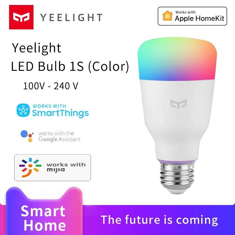 Xiaomi Yeelight Smart Bulb 1S Mijia Smart home Colorful lamp  800 Lumens night light work with Google Assistant Homekit voice