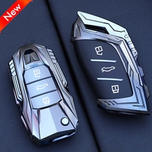 Car Key Case Cover Shell Rings Holder For MG MG3 MG6 ZS EZS HS Mecha Concept Design Pendant Buckle A