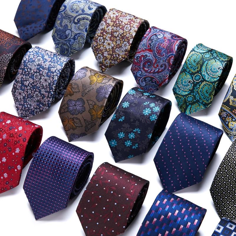48Colors Classic 7.5cm Tie for Men 100% Silk Tie Luxury Striped Slim Ties for Men Suit Cravat Wedding Party  Gravatas недорого