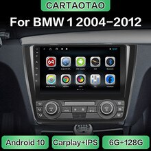 Android 10 auto radio GPS navigation WiFi CarPlay multimedia player für BMW 1 Serie E81 E82 E87 E88 DSP RDS IPS KEINE DVD 2din