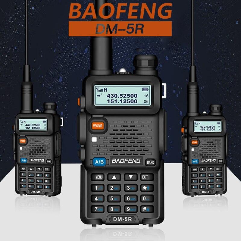 Baofeng DM-5R TierI TierII مكرر الرقمية اسلكية تخاطب DMR اتجاهين راديو VHF/UHF المزدوج الفرقة راديو DM5R