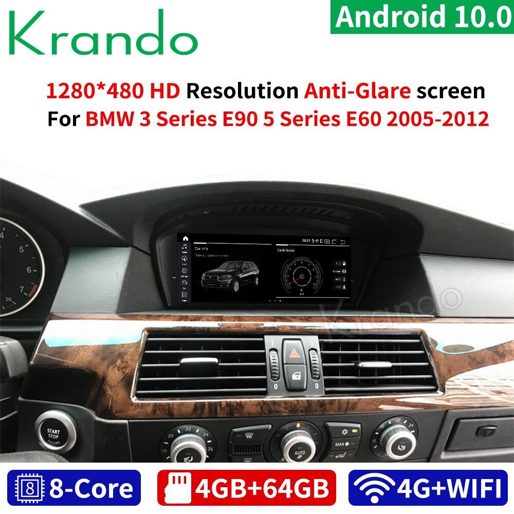 "Krando Android 10,0 8 Core 4 + 64G 8,8 ""/10,25"" coche multimedia gps para BMW serie 5 E60/BMW Serie 3 E90 2005-2012 CIC CCC de Audio"