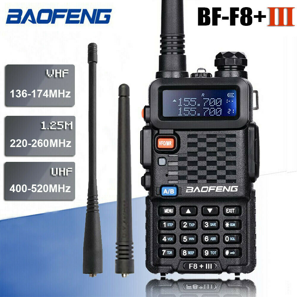 Baofeng BF-F8+ III Upgrade Walkie Talkie Police 2-Way Radio Pofung F8+ III 5W U/VHF Dual Band Outdoor Long Range Ham Transceiver