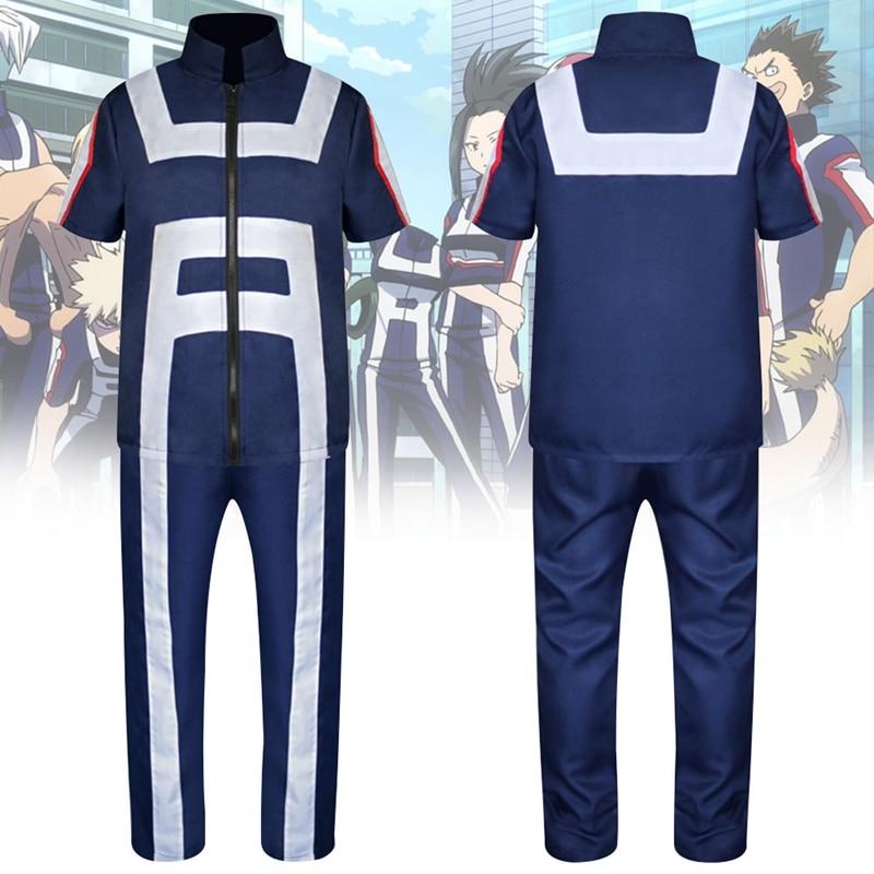 Anime Boku pas de héros académique mon héros académique Izuku Midoriya Cosplay Costume Costume de formation uniforme vêtements de sport hauts + pantalon ensemble