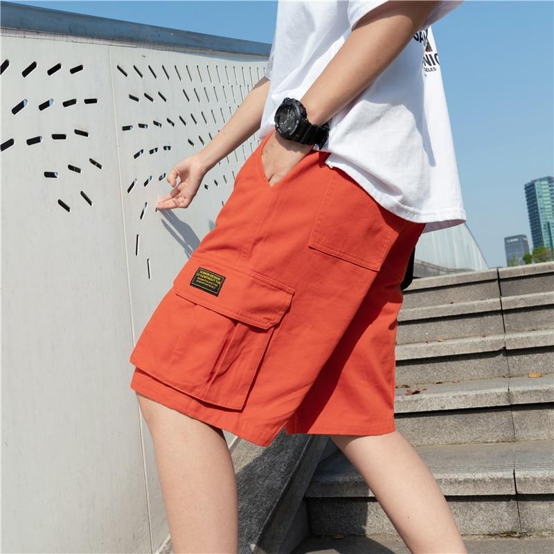 Cotton Shorts Men Casual Shorts Summer Shorts Solid Color Fashion Shorts Mens Pants Trousers Men Clothing Loose Streetwear Men